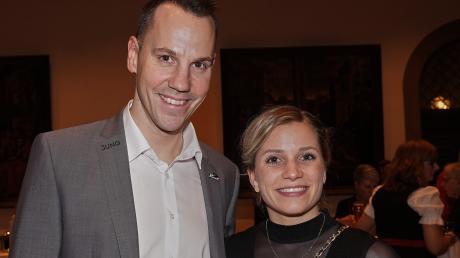 """Der verletzte Eishockey-Profi Christoph Ullmann nahm stellvertretend für seine Teamkollegen die Auszeichnungen für die Panther entgegen, Boxerin Tina Rupprecht strahlte als """"Sportlerin des Jahres""""."""