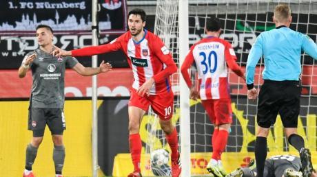 Sicherte Heidenheim mit zwei Toren einen Punkt gegen Nürnberg: Tim Kleindienst.