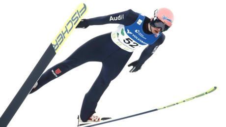 Karl Geiger kam am Kulm auf den vierten Platz.