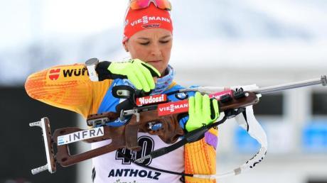 Geht im WM-Verfolgungsrennen als Titelverteidigerin an den Start: Denise Herrmann.