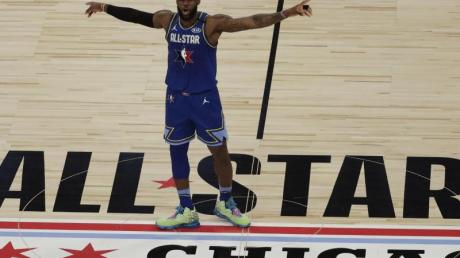 LeBron James war nur einer der Superstars beim NBA-All-Star-Spiel in Chicago.