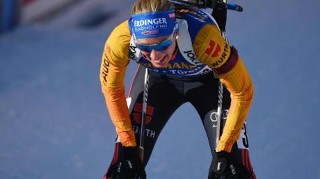 Schrammte in Antholz nur knapp an Gold vorbei: Vanessa Hinz.