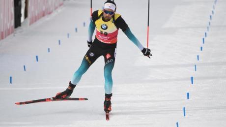 Sicherte sich in Antholz souverän den WM-Sieg über 20 Kilometer: Martin Fourcade.