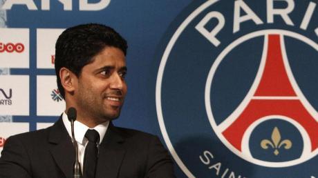Angeklagt:PSG-Boss Nasser Al-Khelaifi.