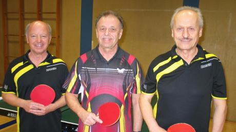 Dieter Gerhardinger, Gerhard Lucke und Xaver Eschenlohr (von links) standen bei den bayerischen Seniorenmeisterschaften auf dem Treppchen.