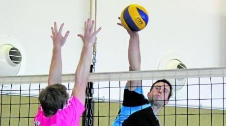 Thomas Wolf (am Ball) hat großen Anteil am Höhenflug der Volleyballer des TSV Inchenhofen. Deshalb wählten ihn unsere Leser zum AN-Sportler des Monats.