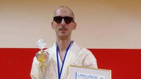 Karateka Rene Steinhübel wurde erneut Bayerischer Meister.