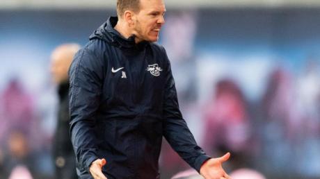 Leipzigs Trainer Julian Nagelsmann war mit der Leistung seiner Mannschaft sichtlich unzufrieden.