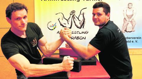 Armwrestling, das ist eine Sportart die hierzulande als echte Sport fast völlig unbekannt ist. Die Brüder Daniel (links) und Stefan Imminger wollen das ändern, und zwar mit einer Veranstaltung in Graben.