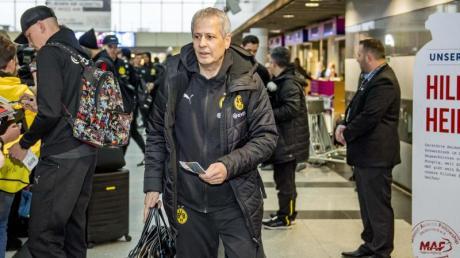 Reist mit seinem Team im kleinen Kreis nach Paris: BVB-Coach Lucien Favre.