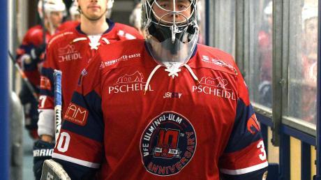 Maximilan Güßbacher führt die Mannschaft der Devils aufs Eis. Auf den Torhüter wird es in der Halbfinalserie ganz besonders ankommen.