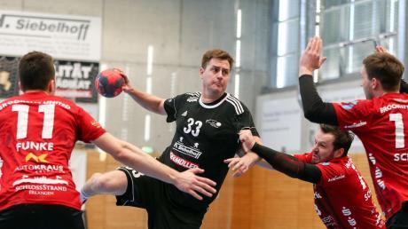 Einzig Fabian Abstreiter (Mitte) hatte mit zehn Treffern eine zufriedenstellende Ausbeute.