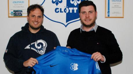 Markus Rickauer (links) wird im Sommer neuer Glötter Trainer (rechts Abteilungsleiter Thomas Schreitt).