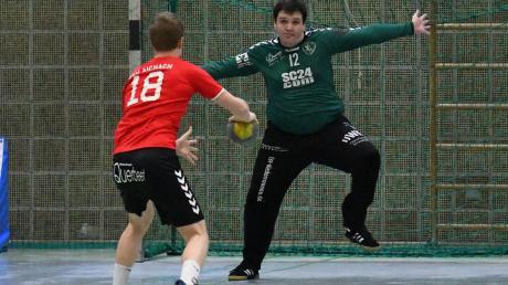 Benedikt Fetschele (hier im Spiel gegen Aichach) war einer der Matchwinner beim ersten Saisonsieg.