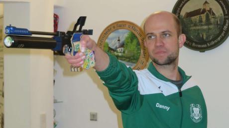 War mit 366 Ringen diesmal der beste Pistolenschütze: Daniel Wrigley von der SG Ottmaring.
