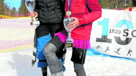 Die Besten auf Ski: Lena Riggenmann und Julian Glassenhart.