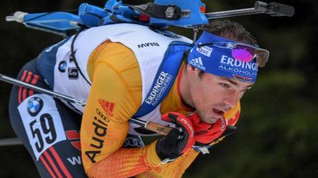 Ist mit Deutschlands Biathleten in Kontiolahti im Einsatz: Simon Schempp.