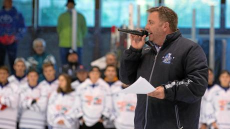 Thomas Berghofer war zehn Jahre lang Stadionsprecher beim HC Landsberg. Nach dieser Saison hört er auf.