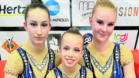 Sie waren beim Maia-Cup in Portugal doch ein bisschen nervös: Lena Sandmair, Lea Hackl und Alexandra Hesse (von links).