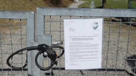 Nichts geht mehr: Komplett geschlossen ist seit Freitag bis auf unbestimmte Zeit die Sportanlage des SV Bergheim.