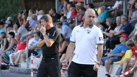 Von einem Fußballspiel vor voller Tribüne können Trainer Paolo Mavros und Abteilungsleiter Torsten Vrazic vom TSV Meitingen derzeit nur träumen. Aufgrund der Corona-Krise wurde der Spielbetrieb vorerst gestoppt und der Trainingsbetrieb eingestellt.