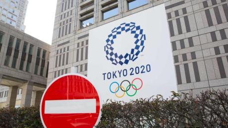 Werbung für die Olympischen Spiele 2020 in Tokio: Wegen der weltweiten Corona-Pandemie will Kanada keine Sportler zu den Olympischen Sommerspielen in Tokio schicken.
