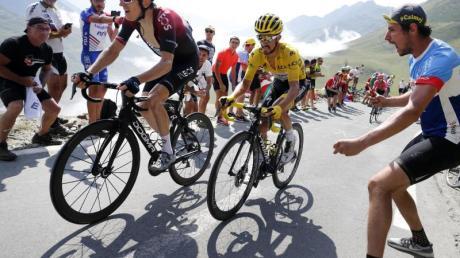 Kann sich eine Tour ohne Zuschauer nicht vorstellen: Ex-Sieger Geraint Thomas (l).
