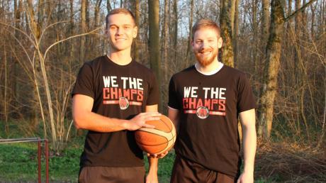 Zwei Neuburger, die künftig mit dem MTV ingolstadt in der Bayernliga spielen: Basketball ist die große Leidenschaft von Lukas Gesche (links) und Dennis Stauber.