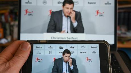 Video-Pressekonferenz mit Christian Seifert, Geschäftsführer der DFL GmbH.