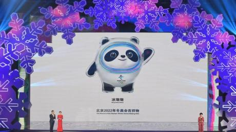 In Peking gibt es keine Pläne die Winterspiele 2022 zu verschieben: Präsentation der Maskottchen.