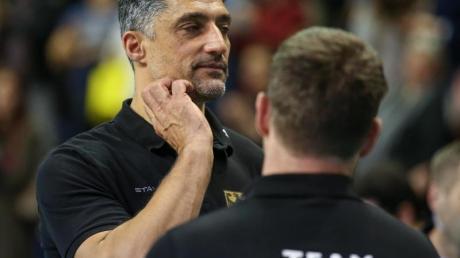 Verpasste mit Deutschlands Volleyballern die Olympia-Qualifikation:Bundestrainer Andrea Giani.