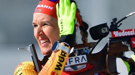 Muss in der Corona-Krise in Sachen Training improvisieren: Biathletin Denise Herrmann.
