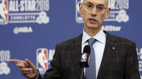 Kann derzeit keine Aussage zur Länge der Zwangskpause in der NBA machen: Adam Silver.