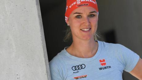 Würde gerne ganz normal trainieren, muss aber improvisieren: Top-Biathlin Denise Herrmann.