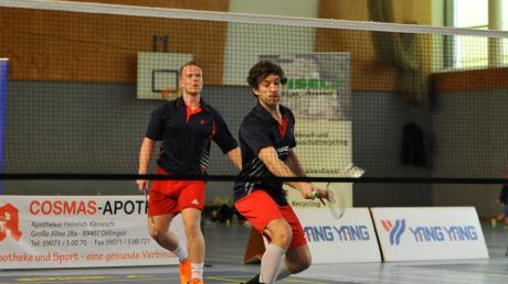 TVD-Kapitän Florian Berchtenbreiter (rechts), hier im Doppel mit Moritz Herkner, will auch in der Regionalliga wieder vollen Einsatz zeigen.