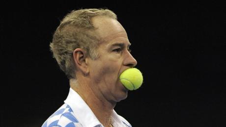 Wenn die Wut zu groß wurde, biss John McEnroe auch mal in den Ball.