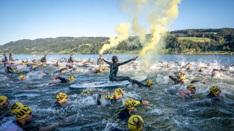 Vor traumhafter Allgäuer Kulisse gingen die Triathleten im vergangenen Jahr an den Start. In diesem Jahr entfällt der Klassiker.