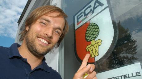 Thomas Tuchel bei seiner Vorstellung als Jugendkoordinator des FC Augsburg im Jahr 2006.