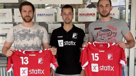 Raphael Groß und Julian Nief tragen ab sofort wieder weinrote Trikots. Trainer Tobias Hartmann ist froh, dass er auf die beiden Könner zählen darf.
