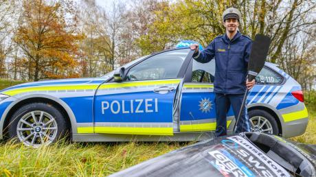 Statt sich auf die Olympia-Qualifikation vorzubereiten, absolviert Sideris Tasiadis nach den Wettkampfabsagen seinen Streifendienst bei der Polizeiinspektion Friedberg.