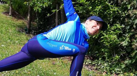 """""""Bella figura"""" im heimischen Garten machte in den vergangenen Wochen die Triathletin Daniela Unger – notgedrungen."""