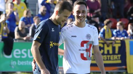Spielen künftig wieder zusammen beim TSV Landsberg: Pipinsrieds Spielertrainer Muriz Salemovic (links) und Andreas Fülla.