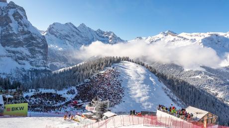 Malerisch gelegen ist Wengen Gastgeber eines der traditionsreichsten Rennen des alpinen Skiweltcups.