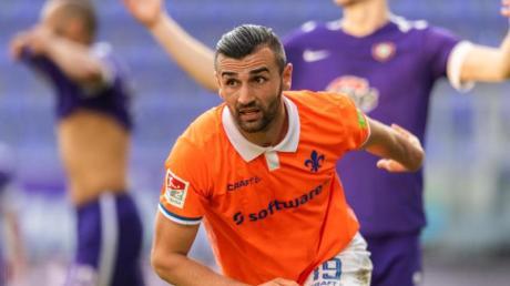 Serdar Dursun war mit zwei Toren Matchwinner beim Darmstädter Sieg in Aue.