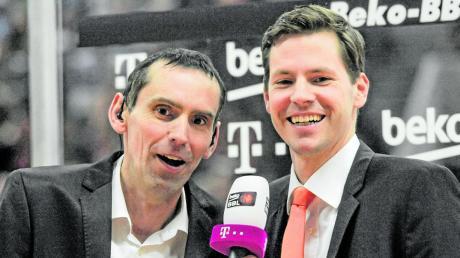 Stefan Koch in seinem zweiten Beruf als Kommentator – hier mit seinem Kumpel Thorsten Leibenath von Ratiopharm Ulm.
