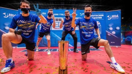 Der 1. FC Saarbrücken gewann zum ersten Mal den deutschen Meistertitel im Tischtennis.