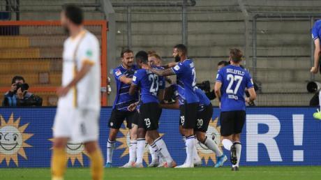 Arminia Bielefeld kann nach dem Sieg gegen Dynamo Dresden für die Bundesliga planen.