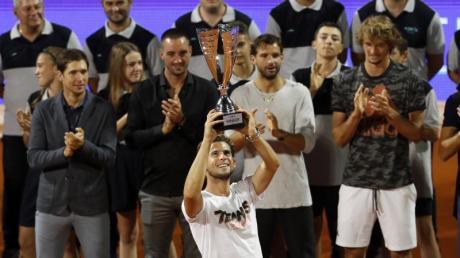 Sieg mit Nachgeschmack: Dominic Thiem (M) beim Adria-Cup.