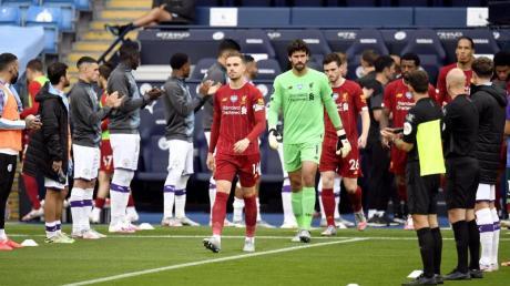 Die Mannschaft von Manchester City stand Spalier für den FC Liverpool.