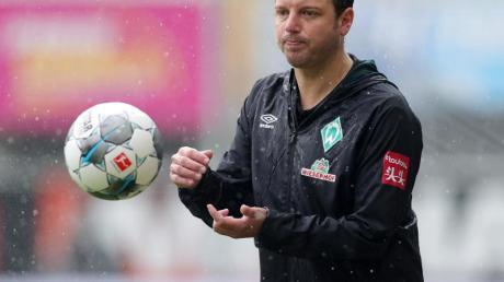 Werder-Trainer Florian Kohfeldt geht optimistisch in das Relegations-Rückspiel.